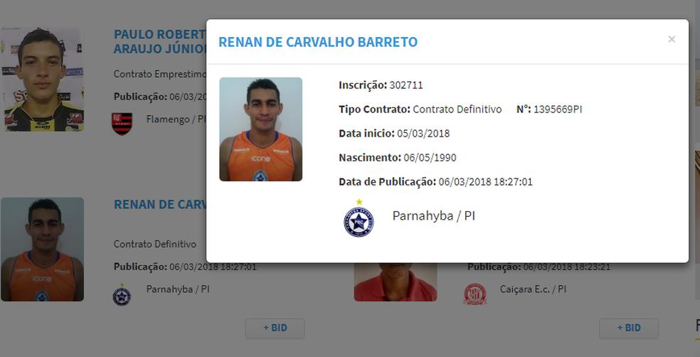 Renan no Parnahyba  (Foto: Reprodução/FFP)