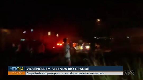 Suspeito de tentar estuprar garota tem a casa depredada por vizinhos, diz polícia