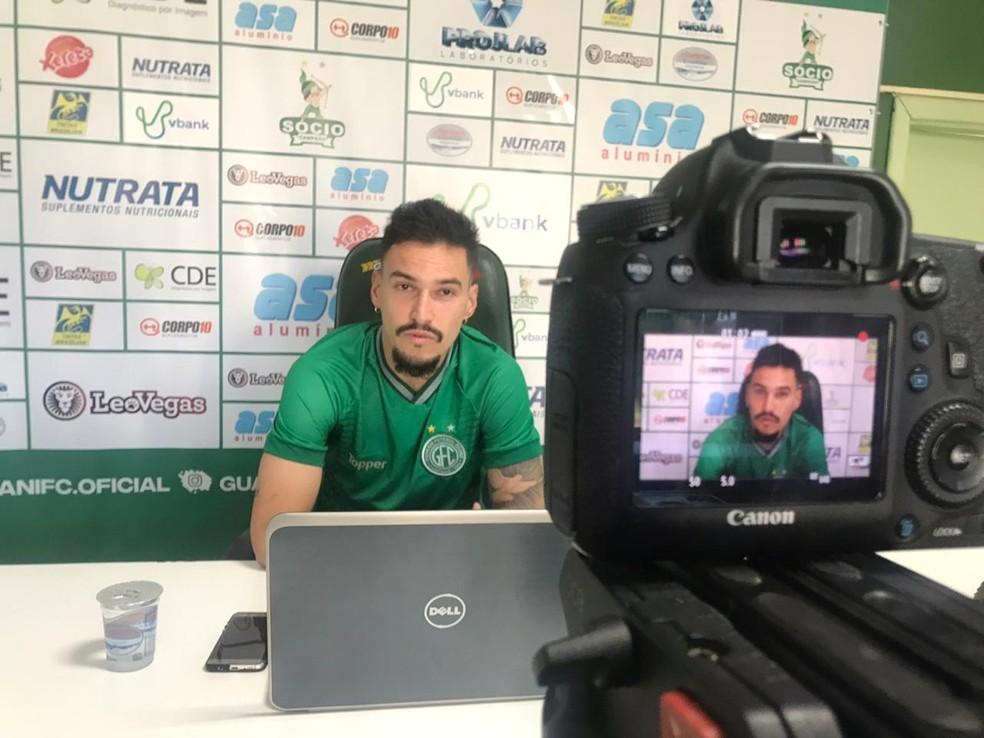 Arthur Rezende é a principal contratação do Guarani até agora  — Foto: André Albuquerque/Guarani FC