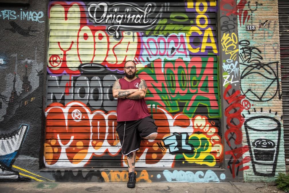 Daniel Martins não esconde a paixão por seu bairro, a Mooca (Foto: Fábio Tito/G1)