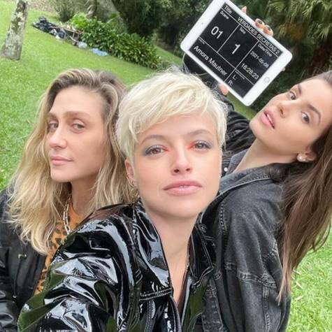 Amora Mautner, Agatha Moreira e Camila Queiroz (Foto: Arquivo pessoal)