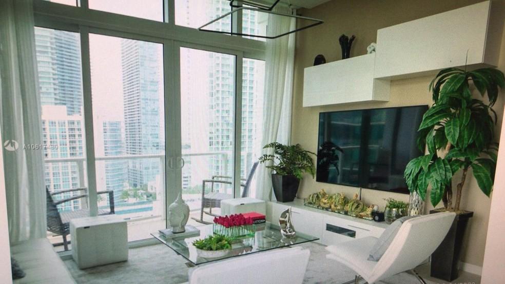 Apartamento de filho de Paulo Melo em Miami — Foto: Reprodução