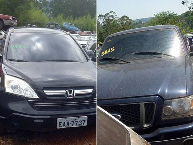 Honda CR-V e Ford Ranger vão para leilão na Grande São Paulo (Foto: Reprodução)