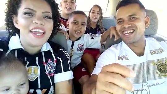 Com tumor avançado, Filipe realiza sonho de conhecer Cássio e assistir ao jogo do Corinthians