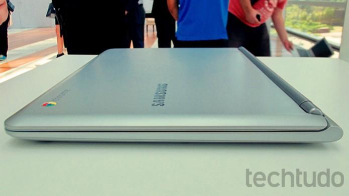 Design bonito e corpo fino podem ser principais atrativos do Samsung Chromebook para os brasileiros (Foto: Paulo Alves/TechTudo)