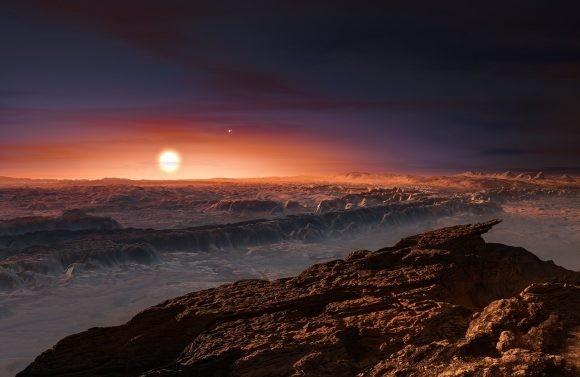 Representação artística do Proxima b (Foto: ESO)