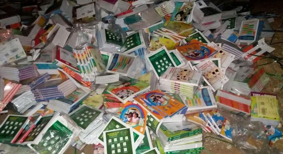 Livros são descartados em lixão em Trindade  (Foto: Joaquim Araújo de Sá/ Arquivo pessoal )