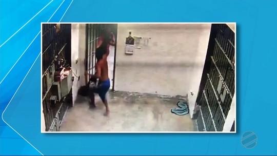 Preso rouba pistola de policial em cadeia de MS, foge e acaba morto em troca de tiros; veja vídeo