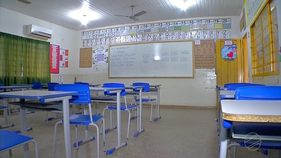 Professores entram em greve por reajuste de salário e aulas são suspensas em Nova Olímpia (MT) (Foto: TV Centro América)