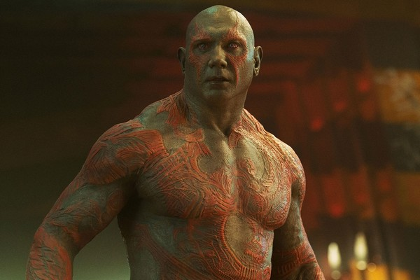 O ator Dave Bautista no papel do herói Drax da Marvel (Foto: Reprodução)