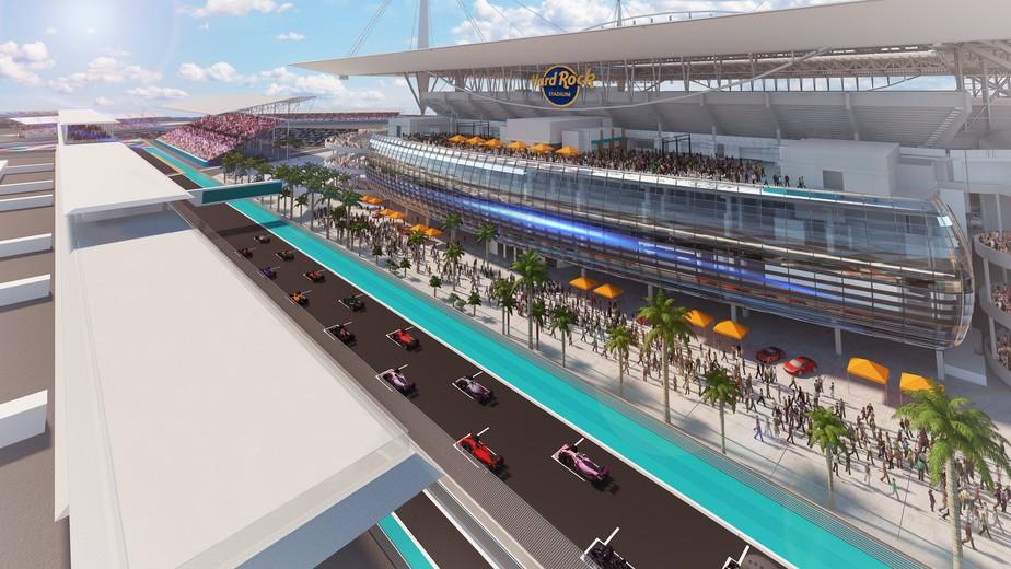 Traçado proposto para corrida de Fórmula 1 em Miami deve ser alterado após veto de comissão