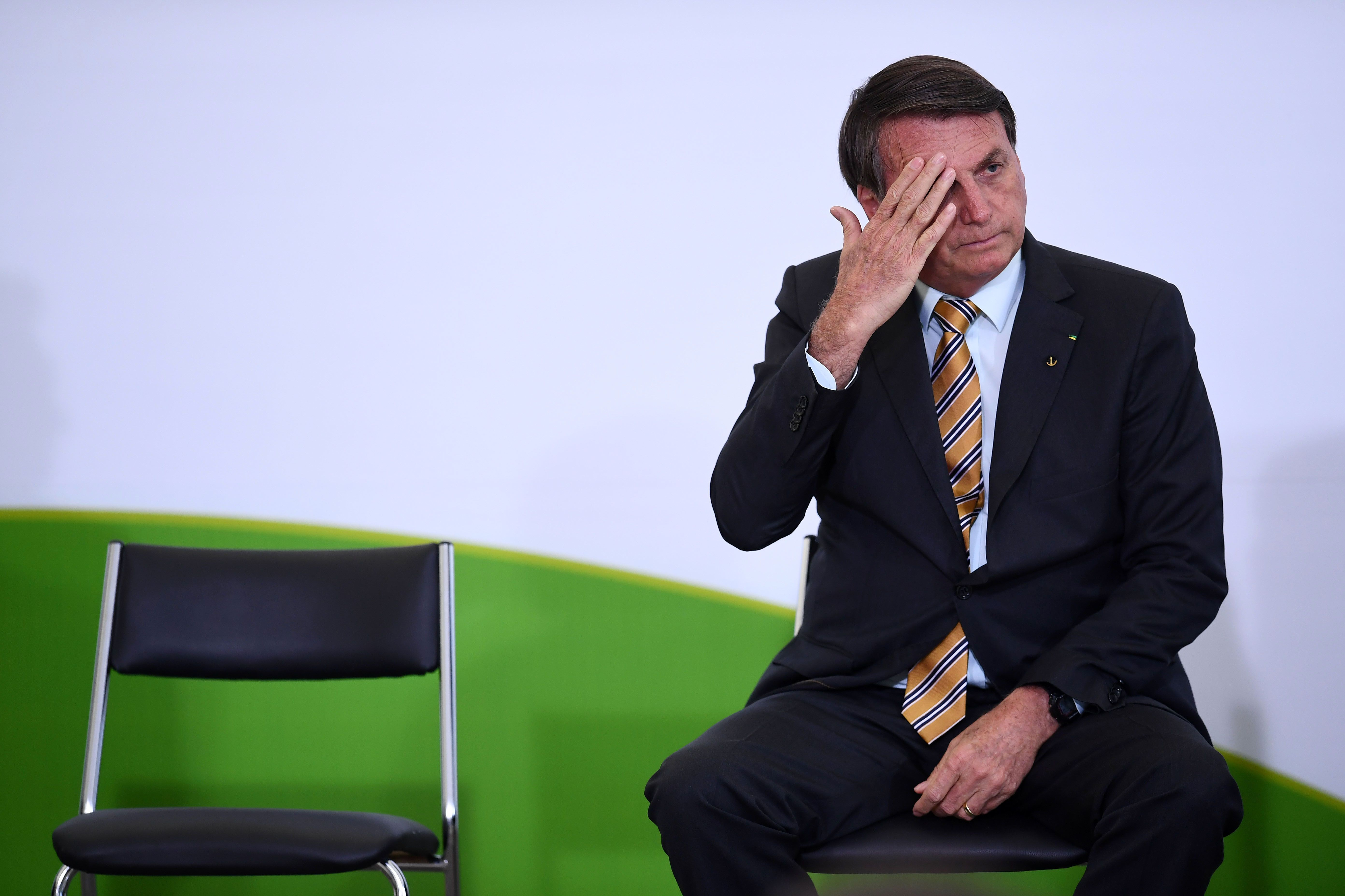 O presidente Jair Bolsonaro em evento no Palácio do Planalto