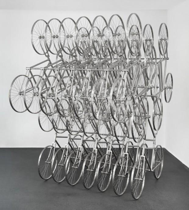Escultura de bicicletas do artista chinês Ai Weiwei (Foto: Divulgação)