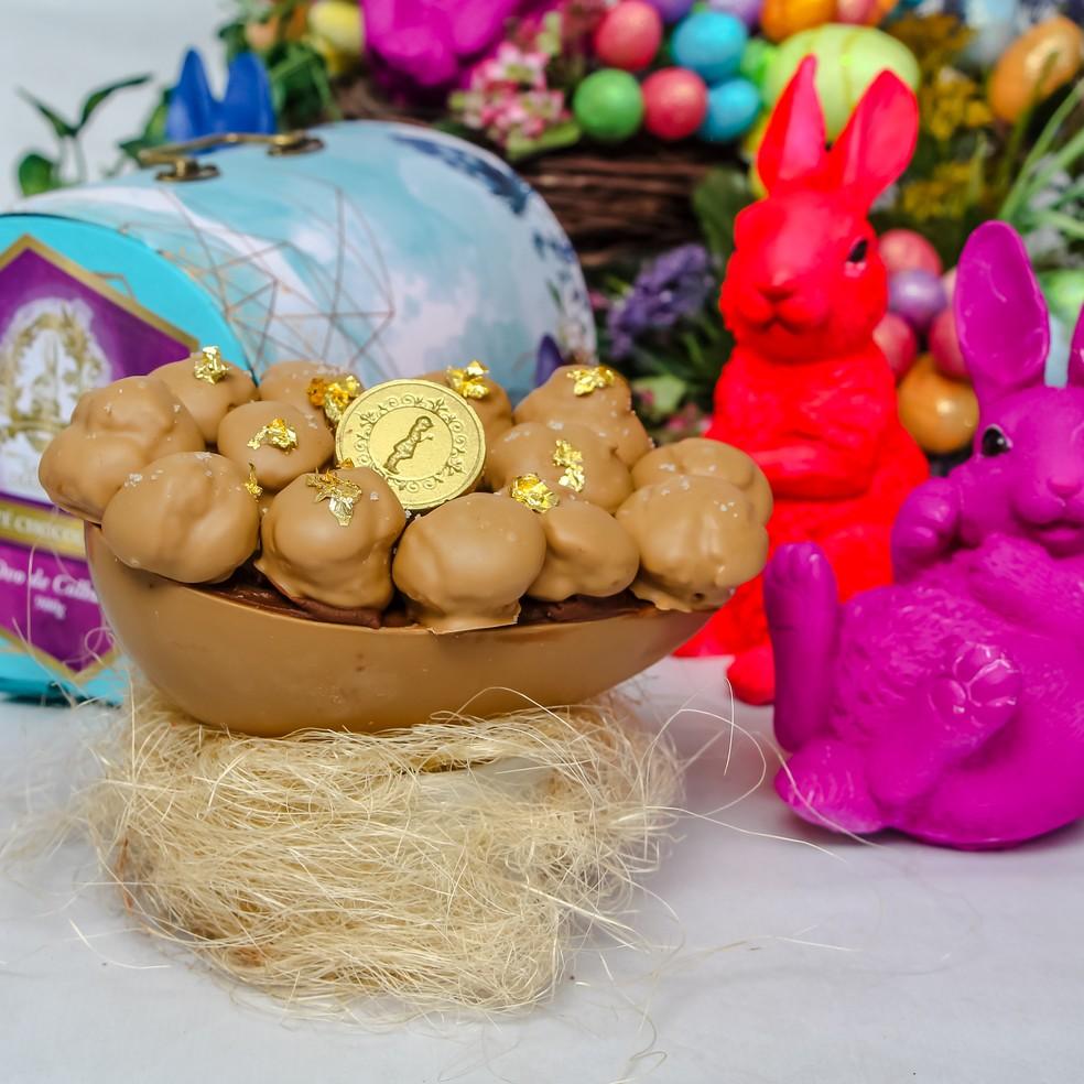Empresas concentram produção em sabores mais tradicionais de ovos de Páscoa — Foto: Henrique Kardozo/Divulgação