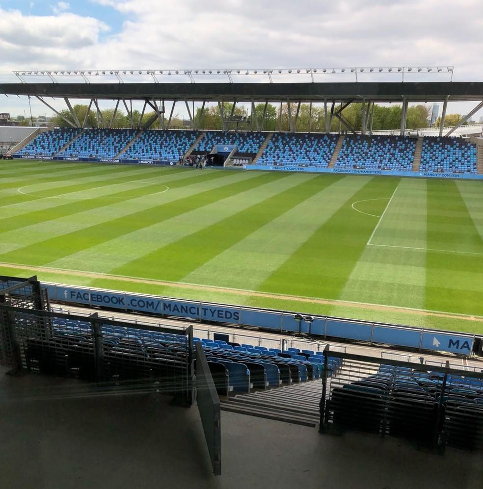 City tem 16 campos: esse é o do Academy Station, casa do time principal feminino e do sub-18 masculino (Foto: Marina Izidro)