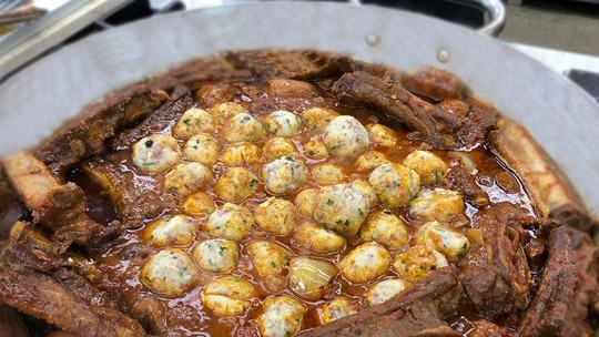 Carne de Porco com Canerdelli do Chef Ravioli