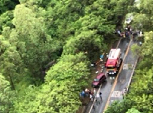 Duas pessoas morrem e três ficam feridas em acidente na PR-082