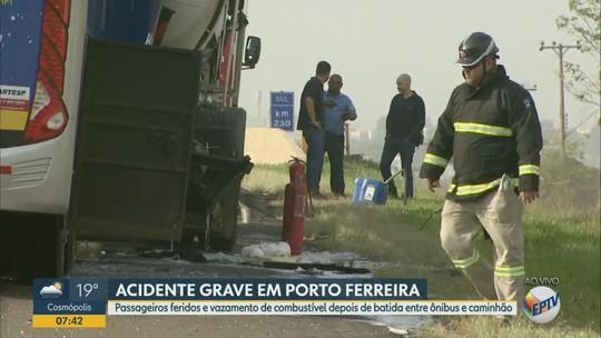 Acidente na Rodovia Anhanguera em Porto Ferreira deixa passageiros feridos