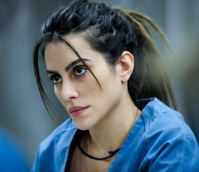 Cleo Pires é Sabrina Toledo, uma psicóloga de 27 anos e filha de um grande empresário. Foi sequestrada no passado e passou quatro meses em cativeiro. (Foto: Globo/Estevam Avellar)