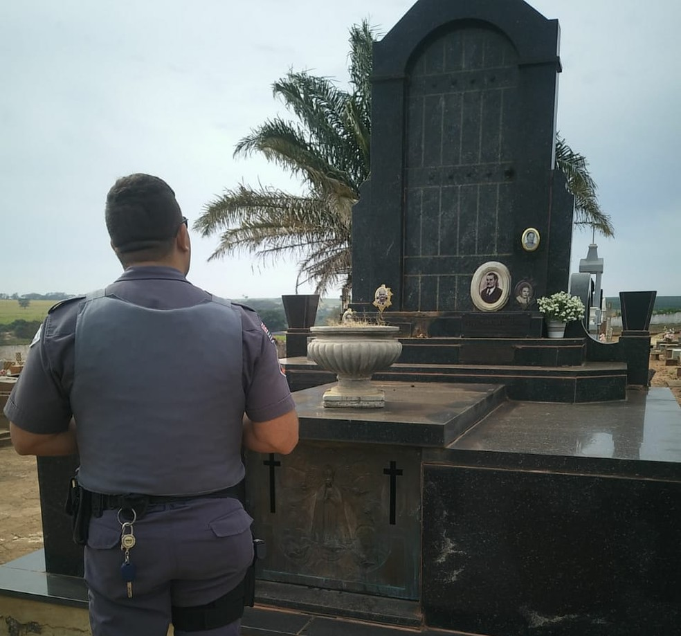 Furto no cemitério de Tabapuã é investigado pela polícia (Foto: Arquivo Pessoal)