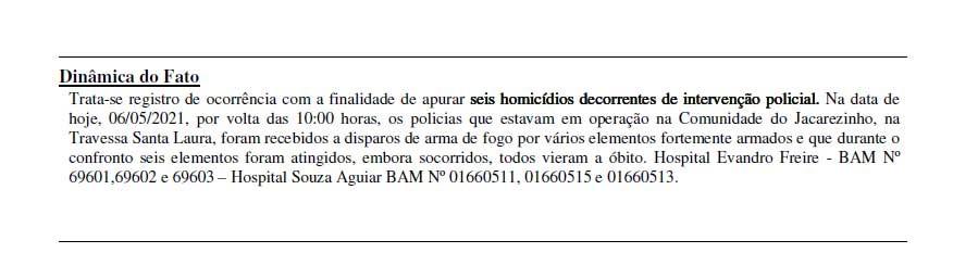 Registros de ocorrência apontam ao menos 10 locais no Jacarezinho com mortes durante operação
