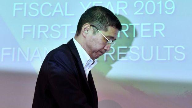 BBC: CEO da Nissan, Hiroto Saikawa, reconheceu a jornalistas que resultados recentes da empresa são 'medíocres' (Foto: AFP VIA BBC )