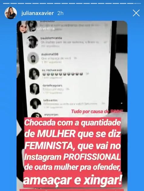 Juliana Xavier no Instagram (Foto: Reprodução)
