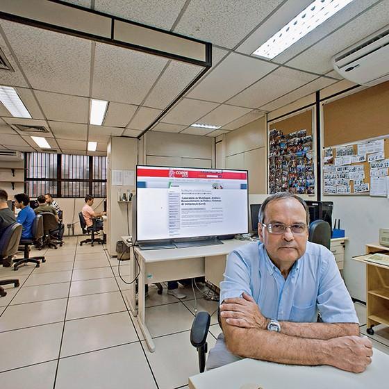 Em 1986, o professor Edmundo de Souza e Silva voltou ao Brasil após seu doutorado na Universidade da Califórnia determinado a conectar o país à rede de computadores (Foto: Adriana Lorete)