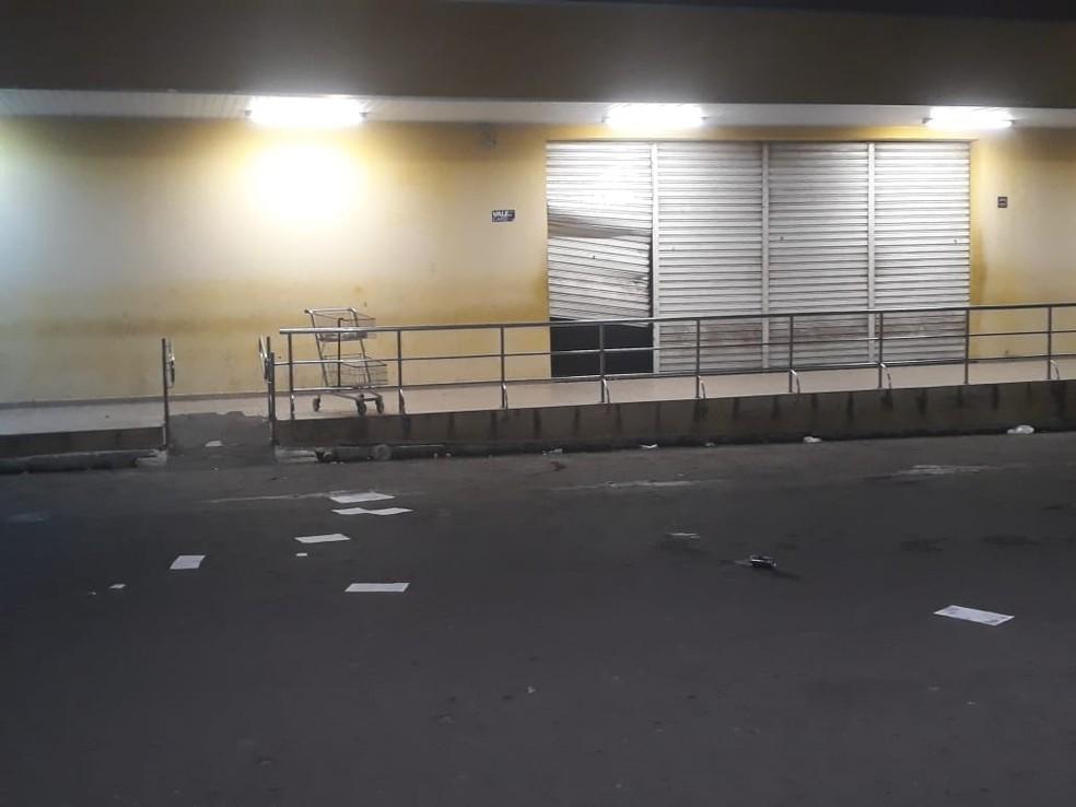 Supermercado arrombado em Bom Jesus, no RN. — Foto: Redes sociais