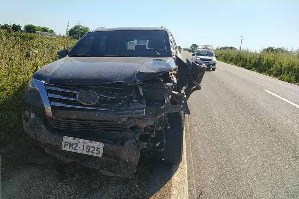 Estudante morre em acidente entre moto e carro quando seguia para velório da avó no interior do RN — Foto: Blog Passando na Hora