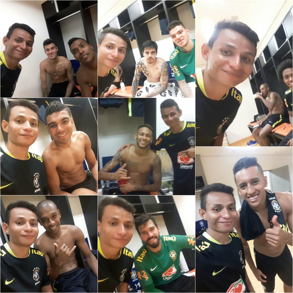 Neymar dá cueca de presente à Maradona (Foto: Montagem: arquivo pessoal)