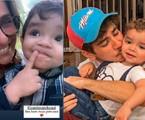 Monique Curi posa com Nicolas, filho de Mabel Calzolari e João Fernandes | Reprodução