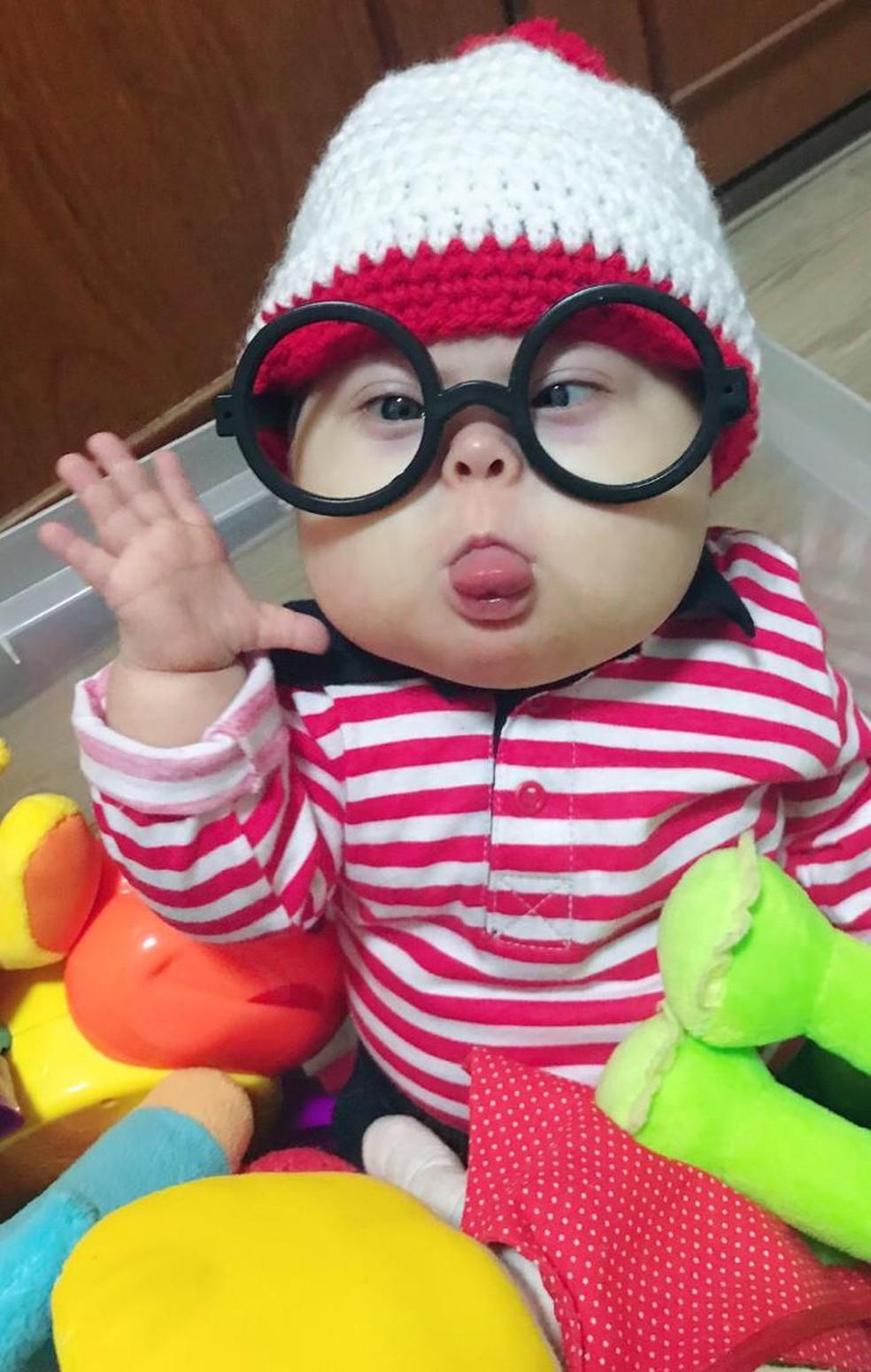 Mãe de menino com síndrome de Down conta rotina na web — Foto: Arquivo pessoal