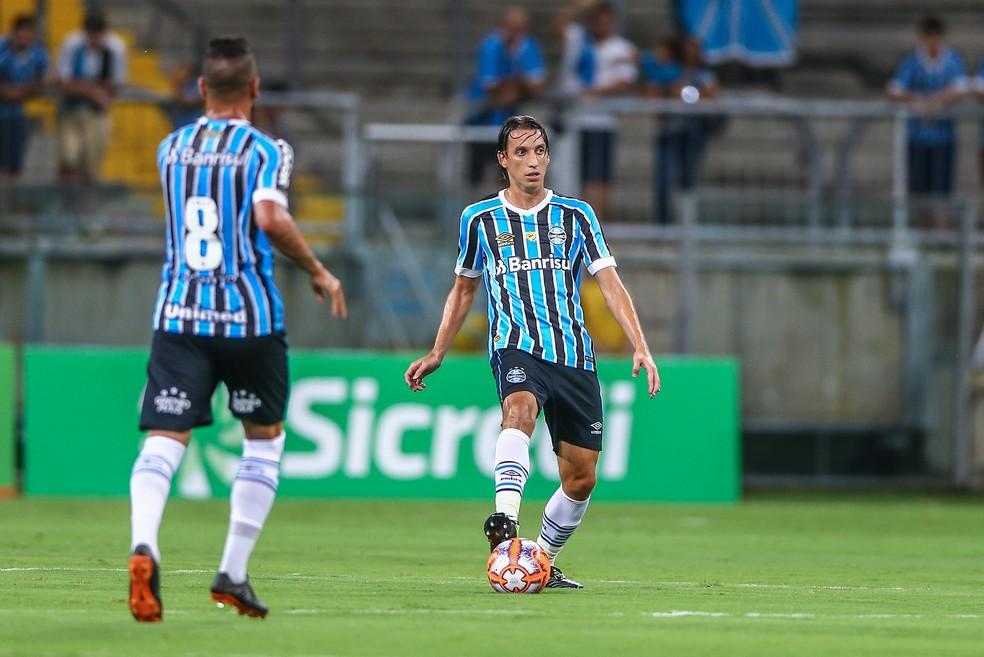 Geromel já atuou contra Juventude e São Luiz — Foto: Lucas Uebel/Grêmio/Divulgação
