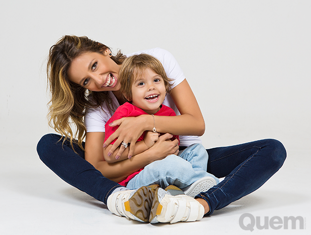 Luisa Mell, com o filho, Enzo (Foto: Anna Fischer)