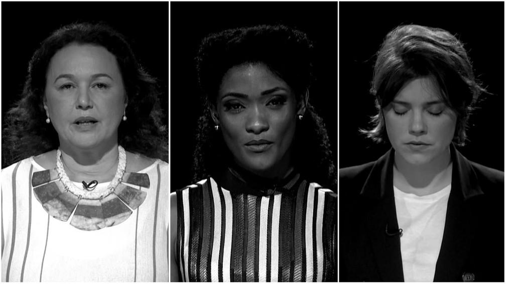 Fantástico convida atrizes para lerem notícias sobre feminicídios (Foto: Reprodução)