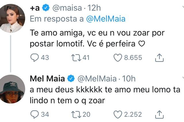Maisa elogia Mel Maia (Foto: Reprodução)
