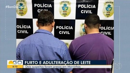 Dupla é presa suspeita de furtar e adulterar leite, em Morrinhos
