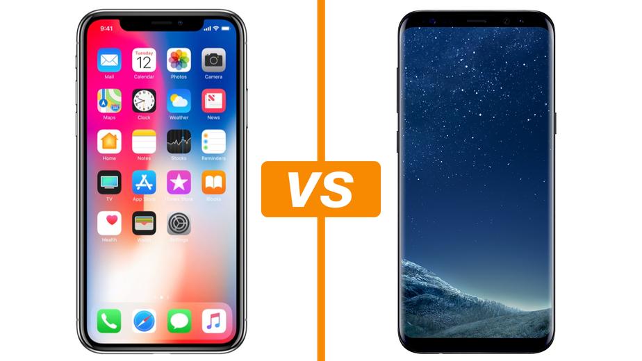 Fotos samsung s8 vs iphone x