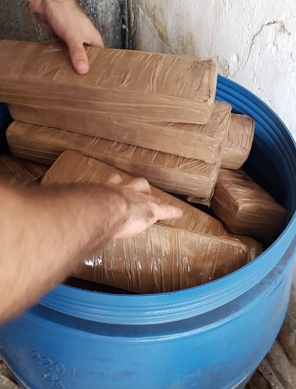 Maconha prensada foi apreendida durante operação das Polícias Civil e Militar, na Paraíba — Foto: Polícia Civil/Divulgação