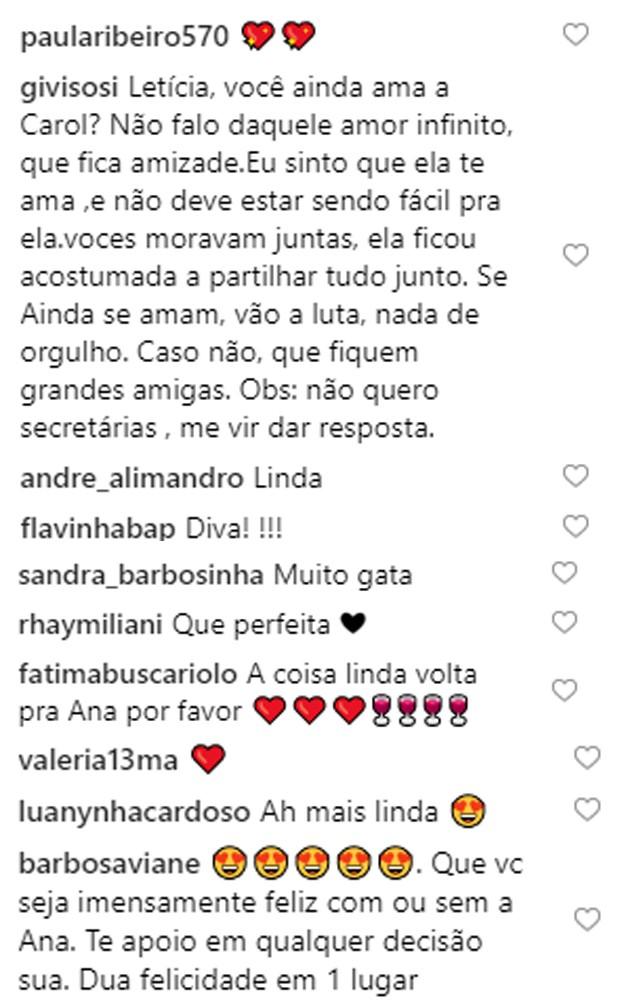 Letícia Lima recebe mensagens de fãs na web (Foto: Reprodução/Instagram)