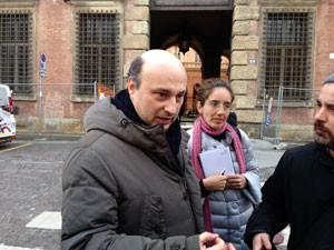 O advogado Lorenzo Bergami, que defende Pizzolato na Itália, após a audiência (Foto: Paolo Tomassone/Especial para o G1)