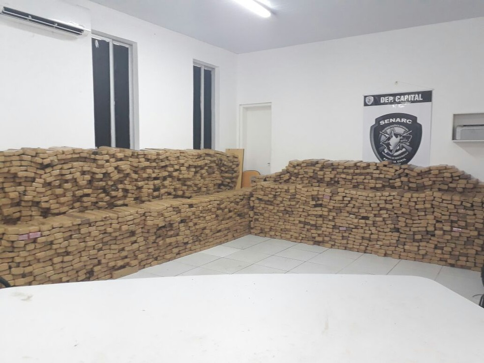 Com esta, a polícia já contabiliza sete toneladas de entorpecentes apreendidos em 2017 (Foto: G1 Maranhão)