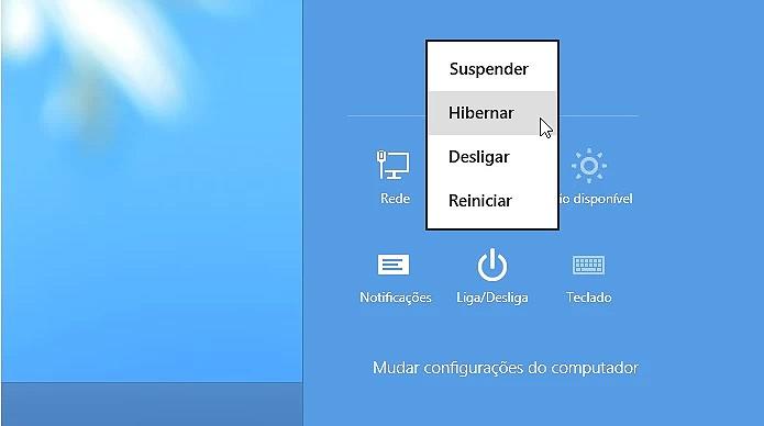 Deixar o PC para hibernar não implica em gasto de bateria (Foto: Reprodução/Henrique Duarte)