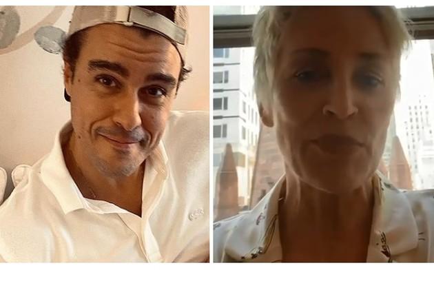Joaquim Lopes disse que Sharon Stone ficou em sua cabeça depois que ele assistiu a 'Instinto selvagem' (Foto: Reprodução)