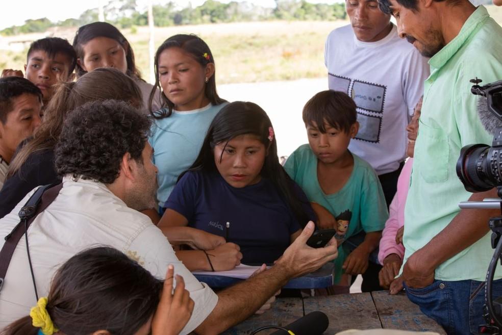 O contato de pesquisadores com a povo indígena Ingarikó permitiu a documentação do conhecimento tradicional — Foto: Alejandro Garcia/Acervo Pessoal