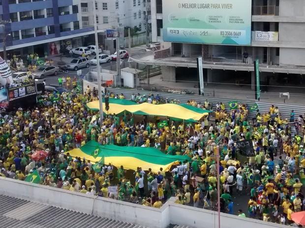 Manifestação em João Pessoa (Foto: Caio Ismael/G1)