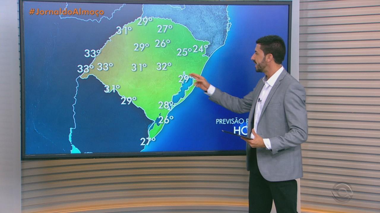 Sexta-feira (19) pode ter chuva e calor em algumas regiões do RS