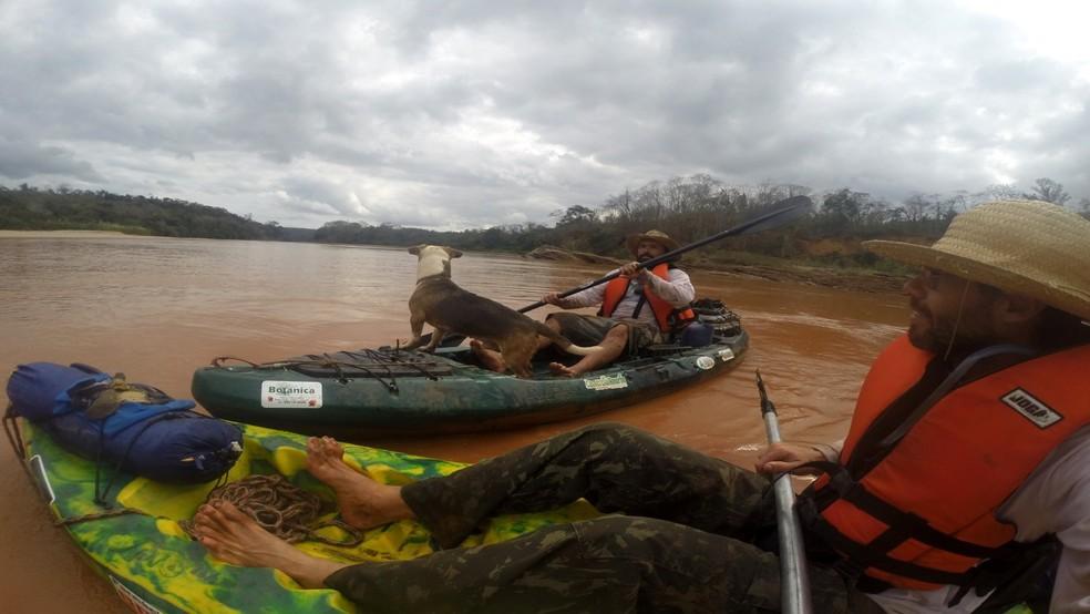 Durante a expedição, Marcio desceu o Rio Doce de caiaque, 9 meses após a tragédia de Mariana (MG)  — Foto: Marcio Francisco Martins / Arquivo pessoal