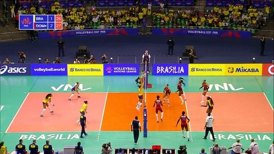 Brasil perde para a República Dominicana pela Liga das Nações de vôlei feminino